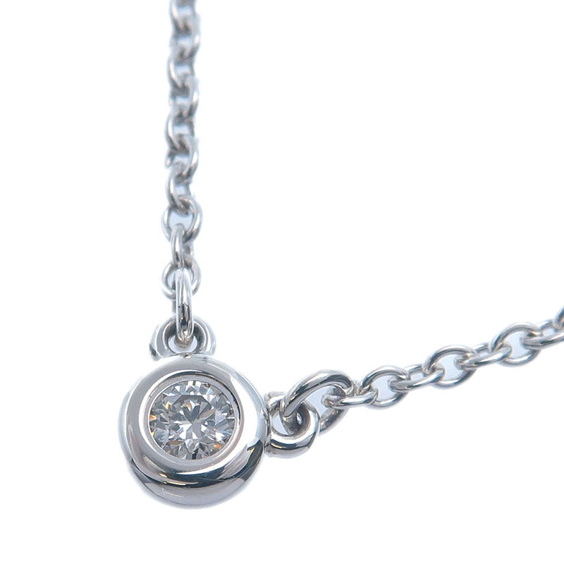 Tiffany&Co.-By-the-Yard-1P-Diamond-Necklace-0.03ct-Silver-925