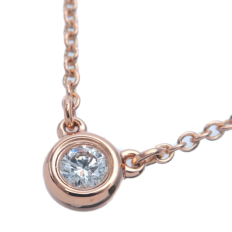 Tiffany&Co.-By-the-Yard-1P-Diamond-Necklace-0.07ct-Rose-Gold