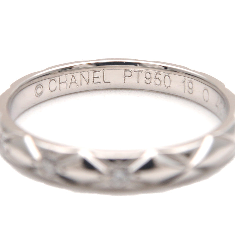 CHANEL Matelasse Ring Small 3P Diamond Platinum #49 US5 EU49-dct-ep_vintage luxury Store