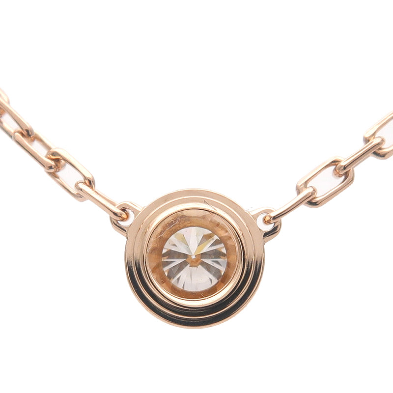 Cartier Diamants Légers Necklace SM 1P Diamond 0.09ct Rose Gold-dct-ep_vintage luxury Store