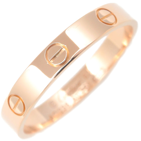 Cartier Mini Love Ring K18 Rose Gold #62 US10 HK22.5 EU62.5