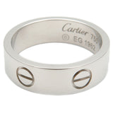 Cartier Love Ring K18 White Gold #52 US6-6.5 HK13.5 EU52.5