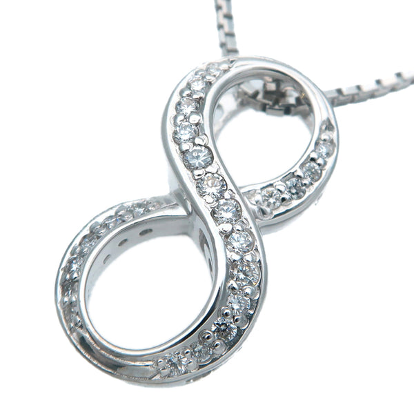 "NOMBRE ALPHA Number ""8"" Diamond Necklace 0.19ct White Gold"