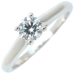 Cartier Solitaire 1895 Diamond Ring 0.31ct Platinum #50 US5-5.5