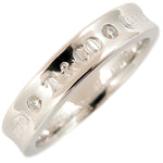 Tiffany&Co.1837 Narrow 2P Diamond Ring K18 White Gold US5.5