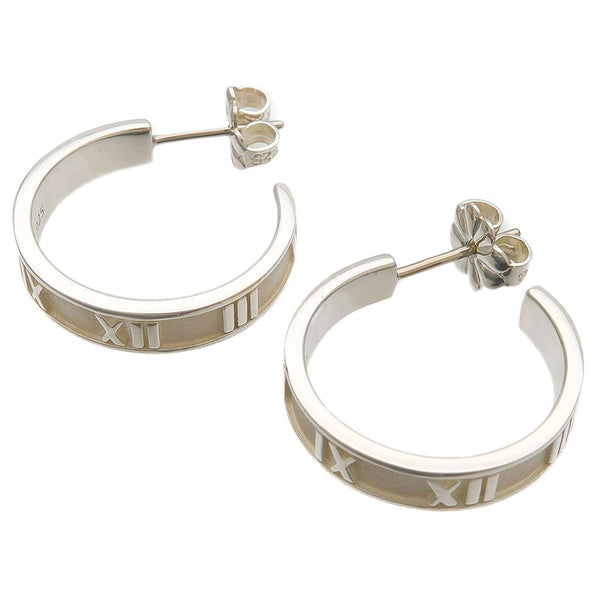 Tiffany&Co.-Atlas-Narrow-Hoop-Earrings-SV925-Silver
