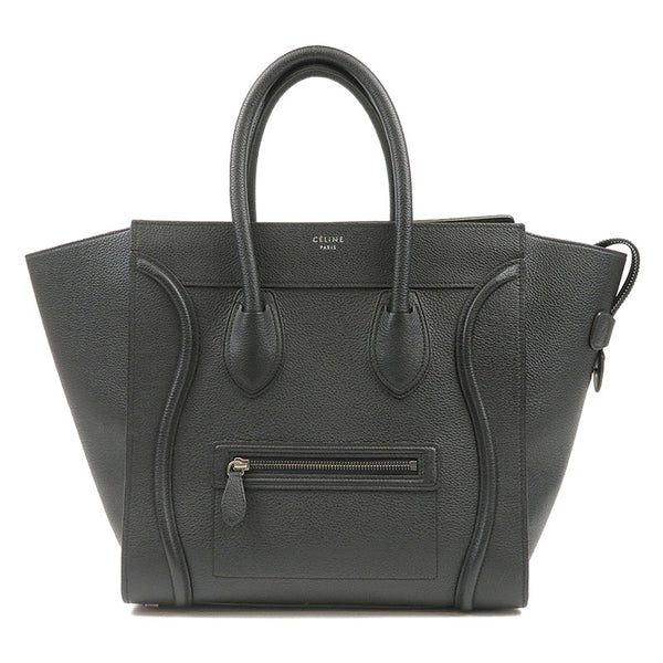 CELINE-Luggage-Mini-Shopper-Hand-Bag-Leather-165213DRU-Black