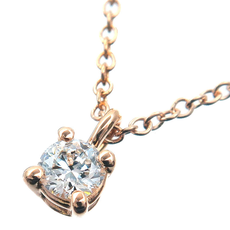Tiffany&Co.-Solitaire-Diamond-Necklace-0.12ct-K18-Rose-Gold