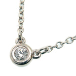 Tiffany&Co.-By-the-Yard-1P-Diamond-Necklace-0.03ct-Silver