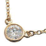 Tiffany&Co.-By-the-Yard-1P-Diamond-Necklace-0.12ct-K18-Yellow-Gold