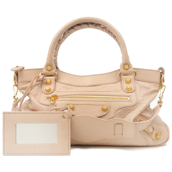 BALENCIAGA-The-Giant-First-Leather-2Way-Bag-Pink-Beige-285433