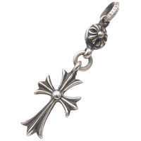 Chrome Hearts One Ball Tiny CH Cross Charm Pendant Top Silver