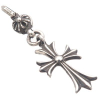 Chrome Hearts One Ball Tiny CH Cross Charm Pendant Top Silver-dct-ep_vintage luxury Store