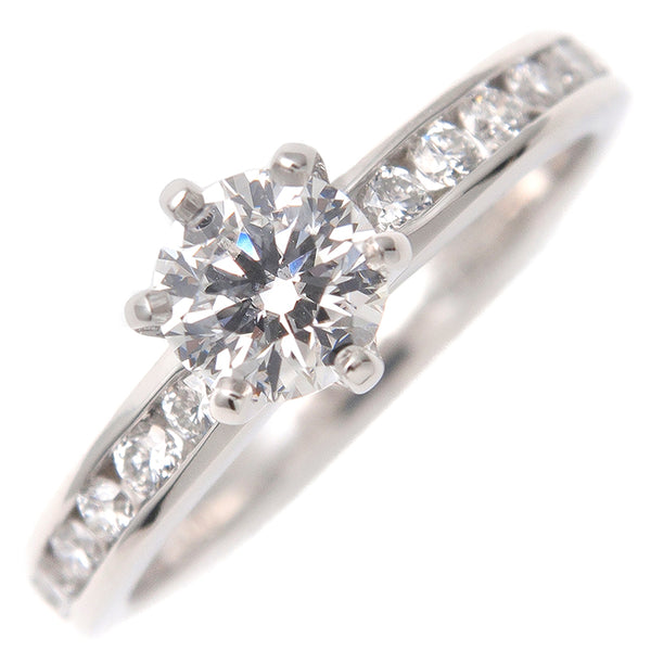 Tiffany&Co.Solitair Half Channel-set Diamond Ring 0.39ct US4.5-dct-ep_vintage luxury Store