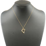 Tiffany&Co. Leaf Heart Necklace K18YG 750YG Yellow Gold