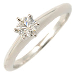 Tiffany&Co. Solitaire Diamond Ring 0.18ct Platinum US4 EU47