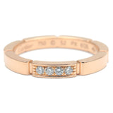 Cartier maillon panthère Ring 4P Diamond Rose Gold #52 US6 EU52