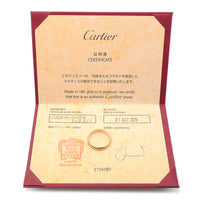 Cartier Wedding Ring K18 Yellow Gold #54 US7 HK15 EU54