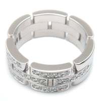 Cartier maillon panthère Half Diamond White Gold US7.5 EU55.5
