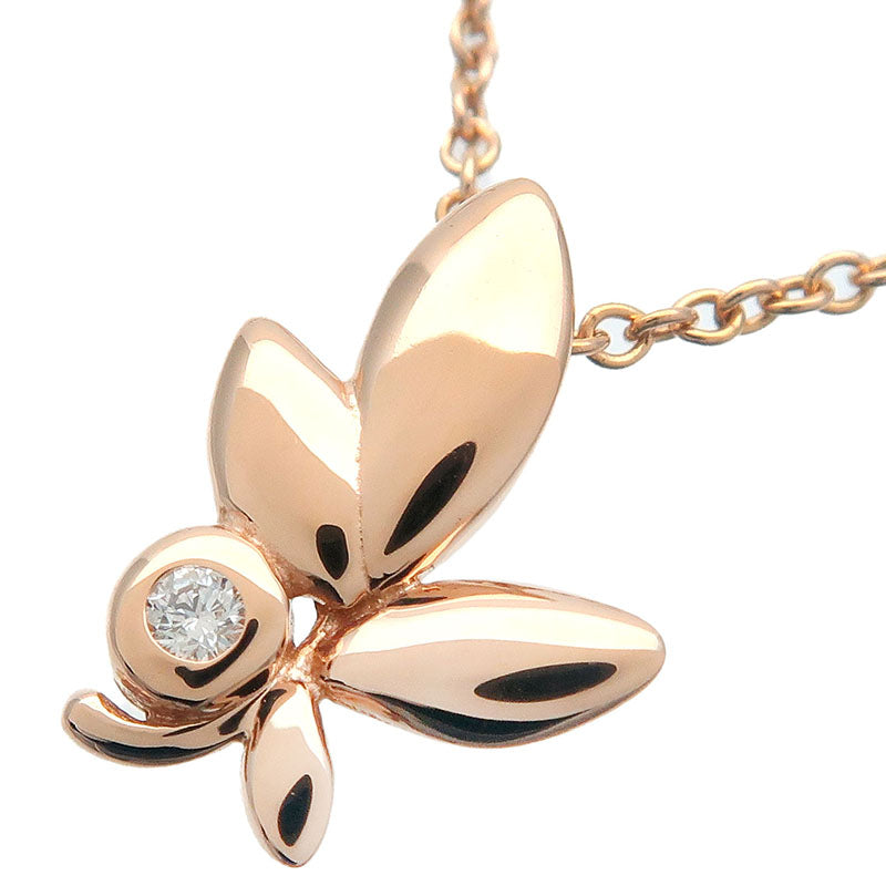 Tiffany&Co.-Olive-Leaf-1P-Diamond-Necklace-K18-Rose-Gold
