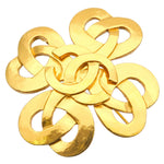 CHANEL-Coco-Mark-Clover-Charm-Brooch-Gold-97P
