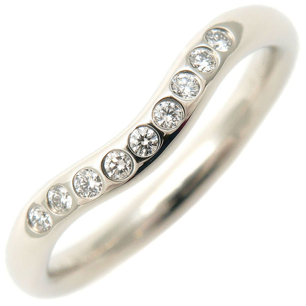 Tiffany&Co.-Curved-Band-Ring-9P-Diamond-Platinum-US4-EU46.5