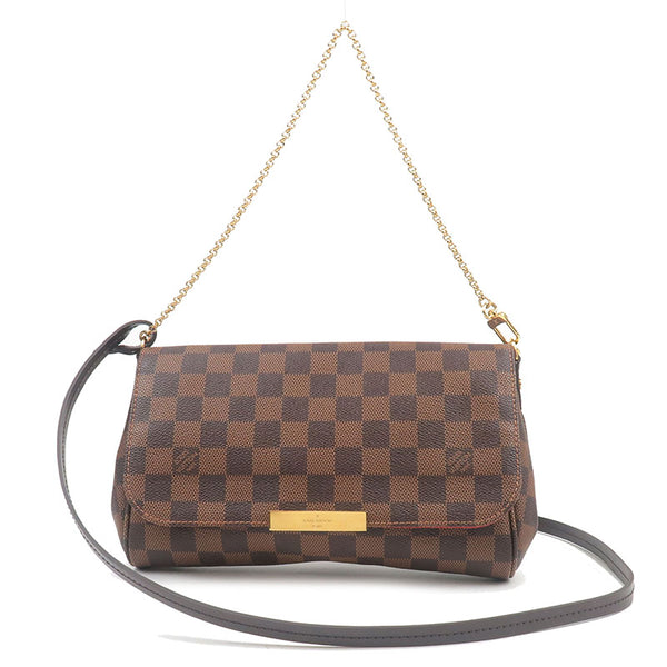 Louis-Vuitton-Damier-Favorite-MM-2Way-Shoulder-Bag-N41129
