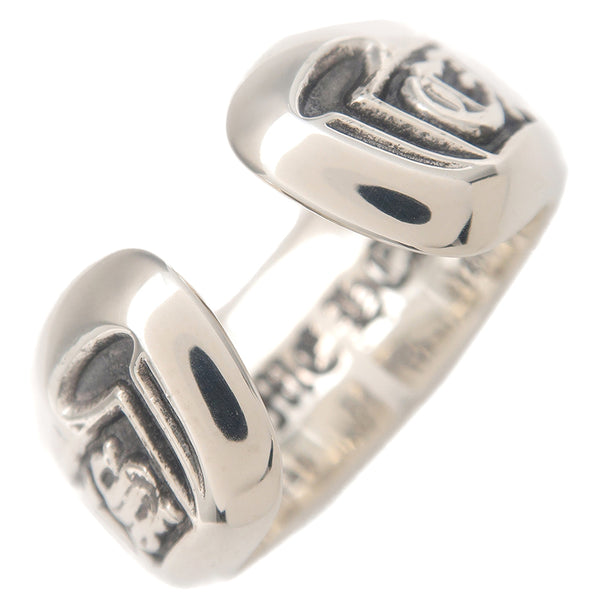 Chrome Hearts Scroll Label Ring Small Silver US7 HK15.5 EU55