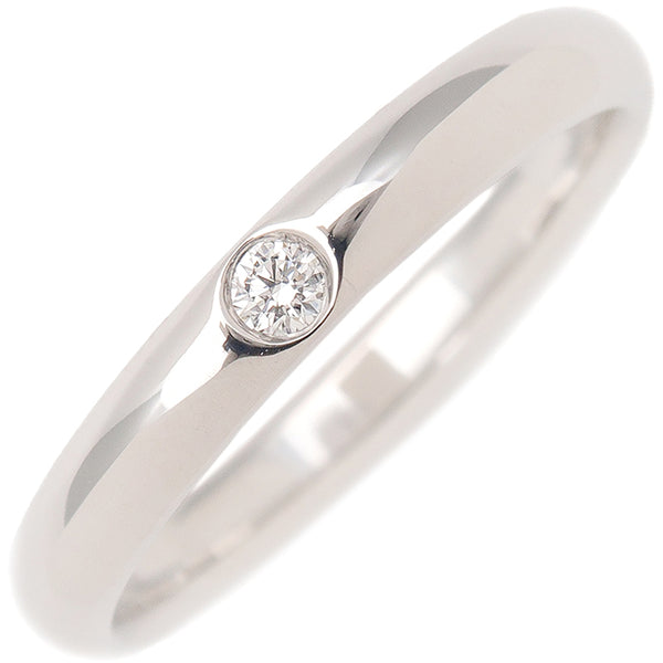 HARRY WINSTON Round Marriage Ring 1P Diamond Platinum US7.5 EU55.5