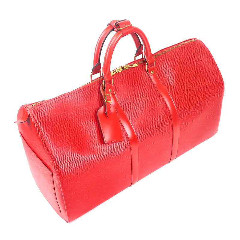 Louis Vuitton Epi Keep all 50 Boston Bag M42967 Castilian Red-dct-ep_vintage luxury Store