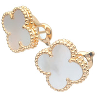 Van Cleef & Arpels Vintage Alhambra Earrings Yellow Gold