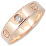 Cartier-Mini-Love-Ring-1P-Diamond-K18-Rose-Gold-#48-US4.5-5