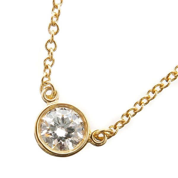 Tiffany&Co.-By-the-Yard-1P-Diamond-Necklace-0.2ct-Yellow-Gold