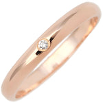 Cartier-Wedding-Ring-1P-Diamond-Rose-Gold-#53-US6.5-HK14-EU53