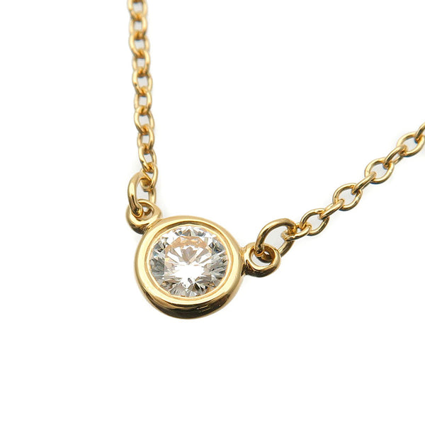 Tiffany&Co.-By-the-Yard-1P-Diamond-Necklace-0.14ct-Yellow-Gold