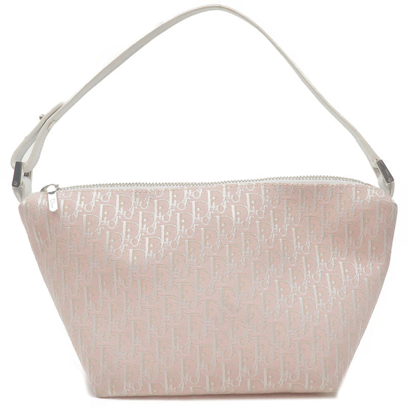 Christian-Dior-Trotter-Canvas-Leather-Hand-Bag-Pouch-Pink