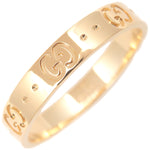 GUCCI ICON Ring K18YG 750 Yellow Gold #21 US9.5 HK21 EU61