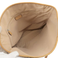 Christian Dior Trotter Canvas Leather Tote Bag Beige Brown