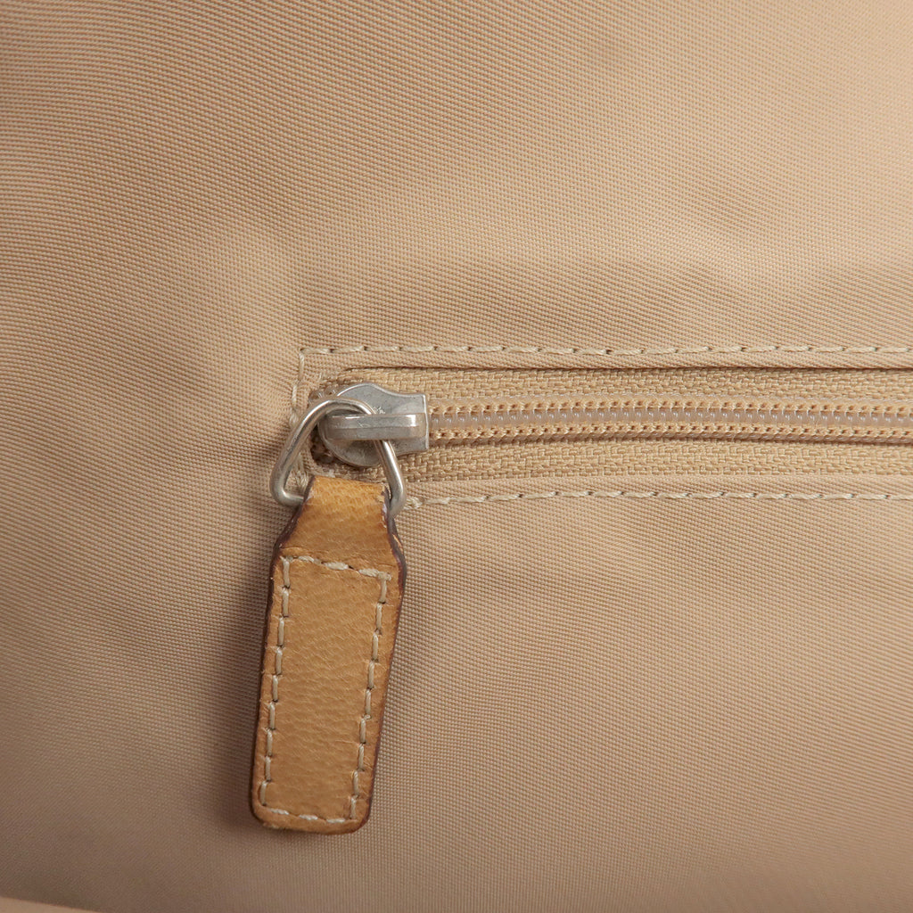 Christian Dior Trotter Canvas Leather Tote Bag Beige Brown-dct-ep_vintage luxury Store
