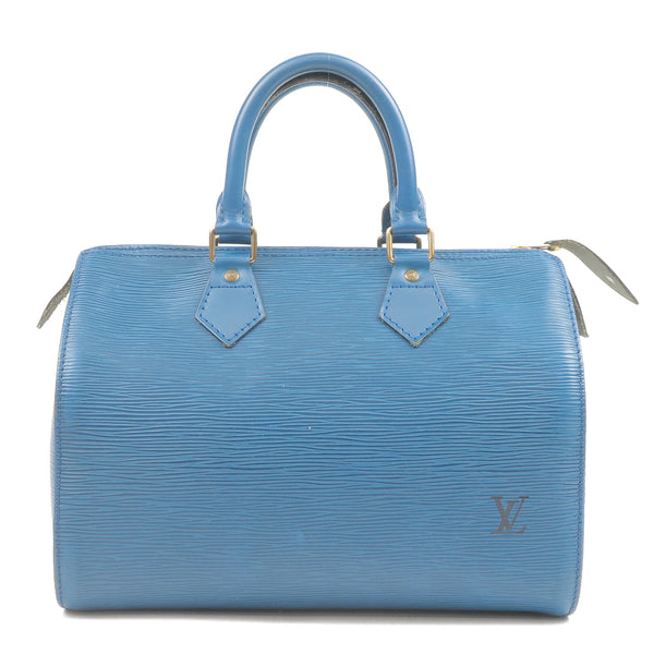 Louis Vuitton Epi Speedy 25 Hand Boston Bag Blue M43015