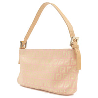 FENDI Zucchino Print Canvas Leather Hand Bag Pink Gold-dct-ep_vintage luxury Store