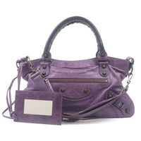 BALENCIAGA The First Leather 2Way Hand Bag Purple 10333208-dct-ep_vintage luxury Store