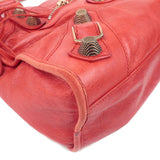 BALENCIAGA Giant City Leather 2Way Hand Bag Red 170384-dct-ep_vintage luxury Store