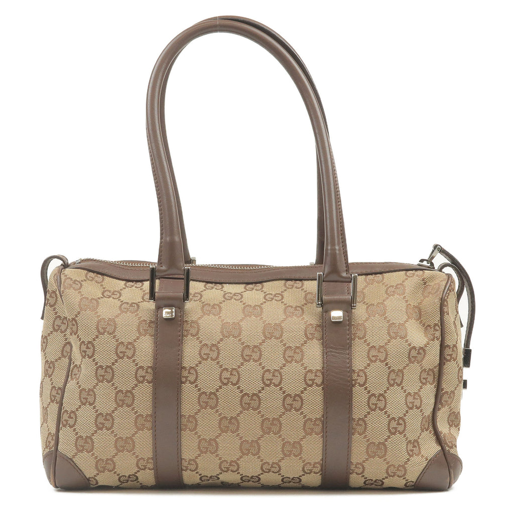GUCCI GG Canvas Leather Mini Boston Bag Beige Brown 30458-dct-ep_vintage luxury Store