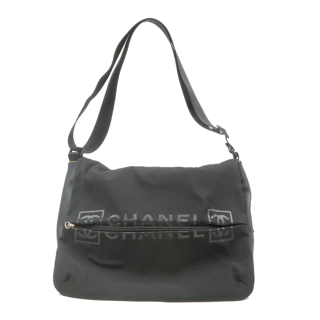 CHANEL Sports Line Nylon Shoulder Bag Black-dct-ep_vintage luxury Store
