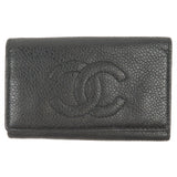 CHANEL Caviar Skin Coco Mark Key Case For 6 Keys Black-dct-ep_vintage luxury Store