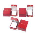Cartier Set of 3 Pair Ring Box Jewelry Box For Ring Red