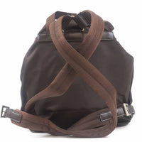 PRADA Nylon Leather Back Pack Brown B6677-dct-ep_vintage luxury Store