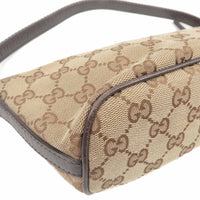 GUCCI Sherry line GG Canvas Leather Hand Bag Pouch 141809-dct-ep_vintage luxury Store