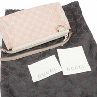 GUCCI GG Canvas Leather Shoulder Purse Pouch Pink 145750-dct-ep_vintage luxury Store